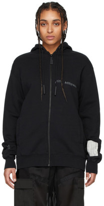 A-Cold-Wall* Black Logo Zip-Up Hoodie