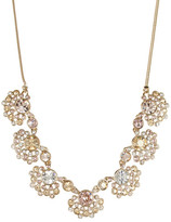 Givenchy Crystal Fan Cluster Frontal Necklace