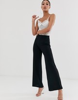 Asos Design DESIGN textured slinky wide leg pants
