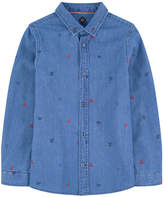 Scotch & Soda Embroidered jean shirt