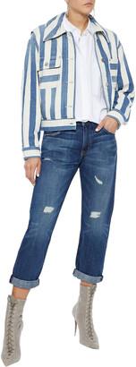 Current/Elliott The Boyfriend Cropped Distressed Boyfriend Jeans
