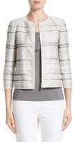 Lafayette 148 New York Women's Tilda Stripe Cotton Blend Jacket