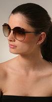 Luella Sunglasses Oversized Black Wire Sunglasses