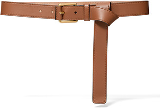 Michael Kors Collection Leather Long Tail Belt
