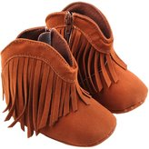 Per Newborn Baby Girl Tassel Boots Prewalker Shoes Handsome Cowboy Style with Soft Sole, First Walking Shoes - , (9-12 months)