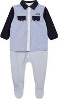 HUGO BOSS Overshirt cotton babygrow 1-12 months