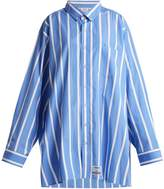 Vetements Oversized striped cotton shirt