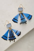 Anthropologie Feathered Druzy Earrings