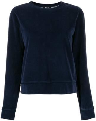 A.P.C. textured crew neck sweater