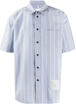 Oamc Short Sleeve Checked Print Shirt