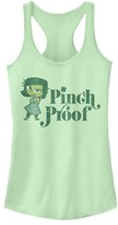 Fifth Sun Women's Tank Tops MINT - Inside Out Mint Disgust 'Pinch Proof' Racerback Tank - Women & Juniors