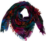 Fendi Abstract Print Blanket Scarf
