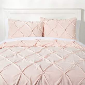 Pottery Barn Teen Microfiber Pintuck Duvet Cover, Twin/Twin XL, Powdered Blush