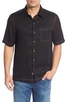 Nat Nast Men's 'Honeycomb' Regular Fit Short Sleeve Textured Sport Shirt