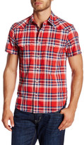 Lucky Brand Short Sleeve Plaid Classic Fit Shirt