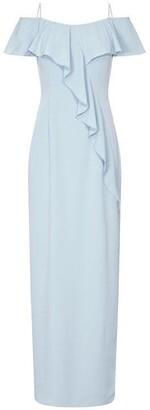 Adrianna Papell Flounce Crepe Dress