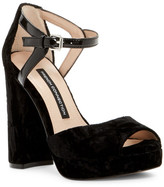 French Connection Dita Velvet Platform Sandal