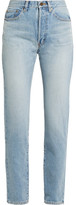 Saint Laurent High-rise Straight-leg Jeans - Mid denim