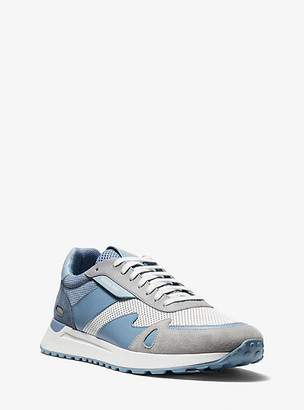 Michael Kors Miles Mixed-Media Trainer - Chambray