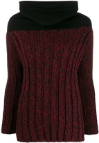 Romeo Gigli Pre Owned 1990s cowl neck fitted jumper
