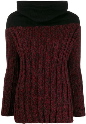 Romeo Gigli Pre-Owned 1990s Cowl Neck Fitted Jumper