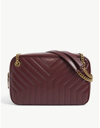 Saint Laurent Joan quilted leather camera bag