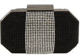 Whiting & Davis Bombe Crystal Mesh Box Minaudiere