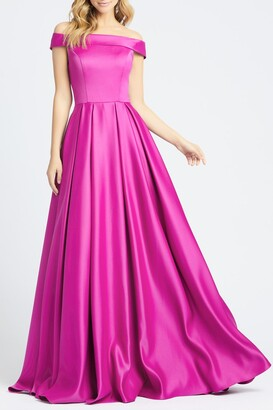 Mac Duggal Off The Shoulder Mikado Dress