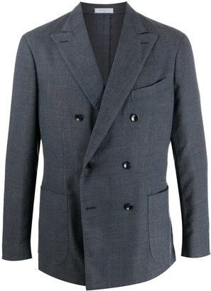 Boglioli Knitted Double Breasted Blazer