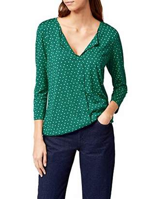 Tom Tailor Women's Draped Open Blouse Shirt,34 (Size: X-Small)