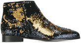 Anna Baiguera 'Blazing Wave' sequinned ankle boots - women - Leather/PVC - 36