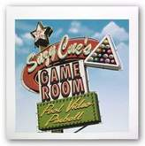 McGaw Graphics Suzy Cue's Game Room by Anthony Ross 12x12 Art Print Poster