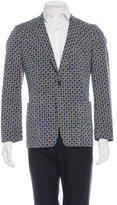 Dries Van Noten Geometric Pattern Blazer