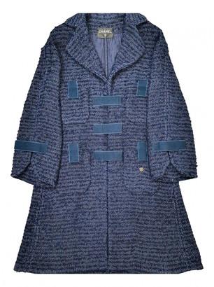 Chanel Navy Tweed Coats