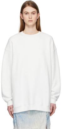 Acne Studios White Reverse Label Sweatshirt