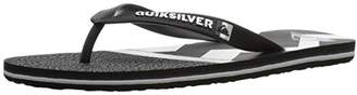 Quiksilver Men's Molokai Zig ZAG Sandal White/Black