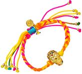 Blee Inara Swarovski Skull and Multicolor Macrame Friendship Bracelet