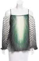 Tamara Mellon Printed Silk Top