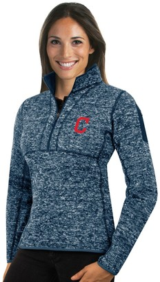 Antigua Women's Cleveland Indians Fortune Midweight Pullover Sweater
