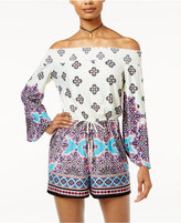 Be Bop Juniors' Printed Off-The-Shoulder Romper