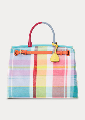 Ralph Lauren Madras Large RL50 Handbag