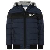 DKNY DKNYBoys Navy Puffer Coat