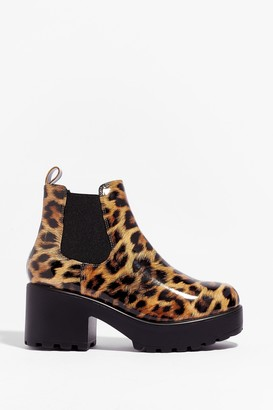 Nasty Gal Womens Meow Do You Like It Leopard Chelsea Boots - Natural