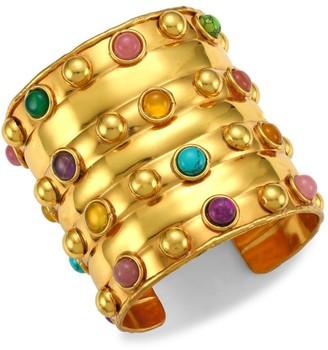 Sylvia Toledano Stone Massai III 22K Goldplated & Multi-Stone Cuff