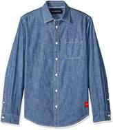 Calvin Klein Men's Long Sleeve Basic Denim Shirt