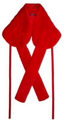 Sies Marjan Mink Fur Bolero Jacket - Womens - Red