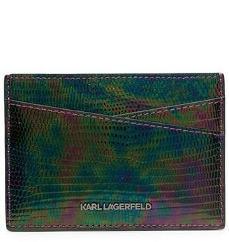Karl Lagerfeld Paris Seven lizard-skin-effect wallet