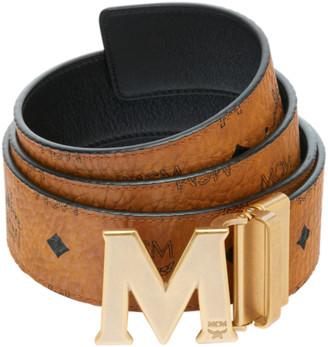 """MCM Antique M Reversible Belt 1.75"""" in Visetos"""