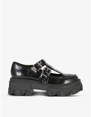 The Kooples Patent leather platform shoes