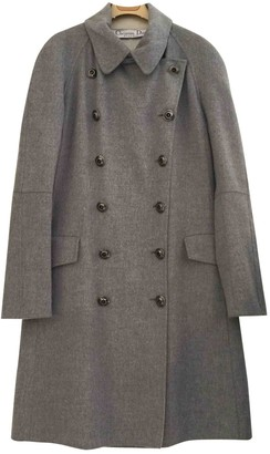 Christian Dior Grey Cashmere Coat for Women